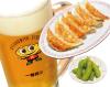 焼き餃子・生ビール・枝豆