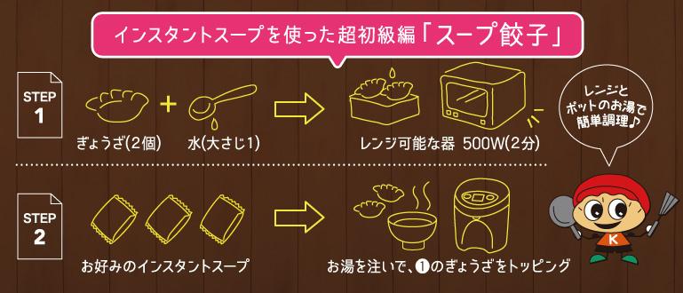 スープ餃子レシピ