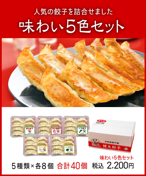 味わい5色セット | 宇都宮餃子館