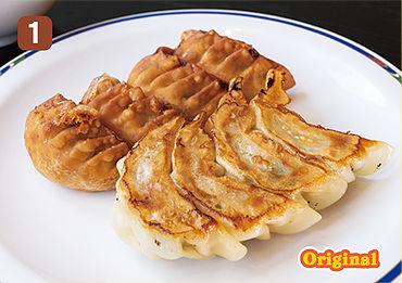 焼きチーズ餃子、揚げチーズ餃子フォンデュ